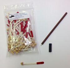 Piano Repair Parts - Medium Cork Bridle Straps Full Set (90) w/Insert Tool