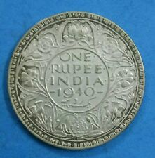 1940 ONE RUPEE SILVER COIN - BRITISH INDIA - KING GEORGE VI -  IN GOOD CONDITION