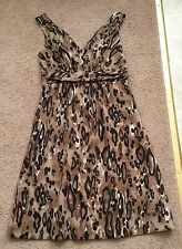 The Limited Dress,Browns Animal Print, 4, Excellent Condition