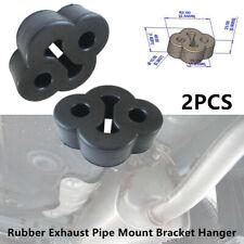 2PCS 2 Holes Rubber Car SUV Exhaust Tail Pipe Mount Bracket Hanger Insulator Kit