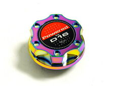NEO CHROME BILLET CNC RACING ENGINE OIL FILLER CAP HONDA CIVIC CRX DEL SOL D16