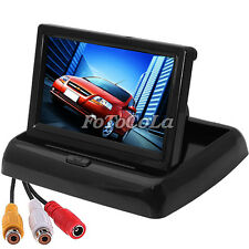 "4.3"" TFT HD foldable LCD dashboard car rear view monitor reverse camera DVD CCTV"