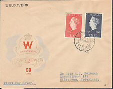 Curacao / Netherlands Antilles cachet Fdc 1948 Royalty Jubilee