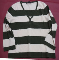 Streifen Pullover rosa taupe  N5 MARC CAIN gestreift Gr.42 EDEL