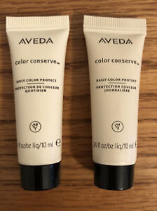 2 Aveda Color Conserve Daily Color Protect .34 oz Trial Size New