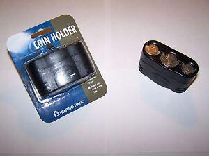 NEW Auto Black Car Change Coin Holder Organizer Dispenser