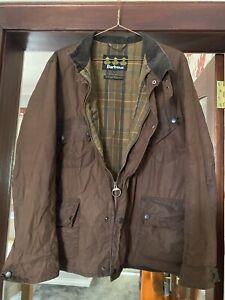 Barbour Lightweight Wax Jacket Brown Large Ladies Genuine