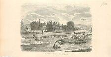 Jardin d'Acclimatation  & Parc de Liège Luik Wallonie GRAVURE ANTIQUE PRINT 1880