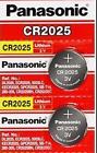 2 x Fresh PANASONIC CR 2025 CR2025 CR 2025 LITHIUM COIN CELL Battery Exp 2030