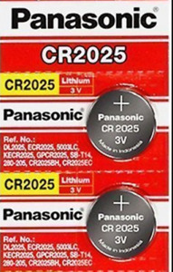 2 x Fresh PANASONIC CR 2025 CR2025 ECR2025 LITHIUM COIN CELL Battery Exp 2030