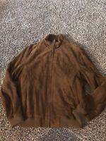 Brooks Brothers Genuine Leather Bomber Style Jacket Size M NWT Full Zip