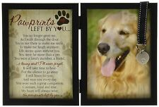 Pawprints Memorial Pet Tag Frame Pawprints Left By You 5 X 7 Grandparent Gift Co