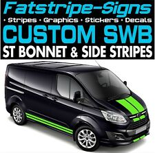 Ford TRANSIT Custom SWB Stripes Graphics Stickers Decals St M Sport Day Van 2.2
