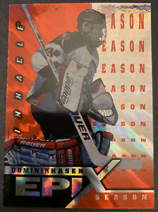 1997-98 Pinnacle Epix SEASON Orange Dominik Hasek #E22 Buffalo Sabres