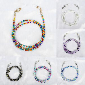 Glasses Neck Chain Rope Lanyard Beaded Sunglasses Reading Cord Strap Necklace