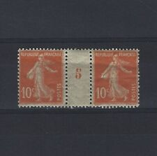 France Yvert n° 138 Paire millésime 5 neuf avec charnière