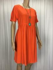 ** ASOS ** Size 10 Orange Womens Casual Summer Swing Dress - (B035)