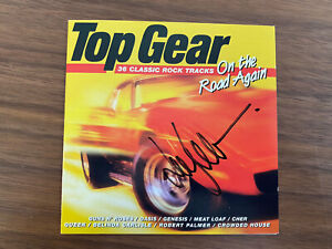 Top Gear JEREMY CLARKSON personally signed CD cover - On the Road Again & coa