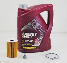 5 L MANNOL Energy LL 5W-30 Longlife mit Ölfilter Audi A1 A3 A4 A5 A6 TT VW Golf