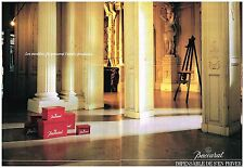 Publicité Advertising 1988 (2 pages) Cristal Baccarat