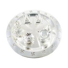 Occasional Gift Silver Plated Divya Swastik Pooja Thali Set, Wedding Gift,