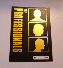 THE PROFESSIONALS TV LEWIS COLLINS TRADING CARD GOLD FOIL PROMO LIMITED EDITION