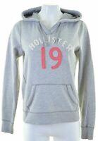 HOLLISTER Womens Hoodie Jumper Size 16 Large Grey Cotton  JA04