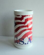Usa Thermal Glass Mug Cup 4th of July Red White Blue Flag Patriotic -