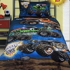 Monster Jam Trucks Grave Digger - Single/US Twin Bed Quilt Doona Duvet Cover Set