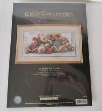 NEW Dimensions Gold Collection Counted Cross Stitch Kit:  A ROW OF LOVE #35039