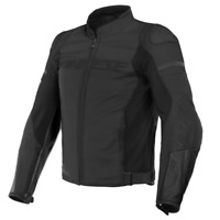 New Dainese Agile Perforated Leather Jacket Men's EU 52 Black #201533844-92C-52