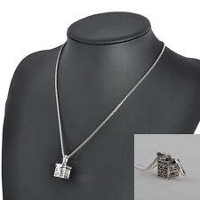 Antique Silver Ash Holder Mini Keepsake Urn Cremation Pendant Necklace Jewelry