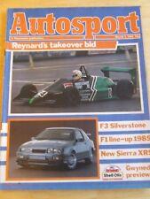 AUTOSPORT MAGAZINE MAR 1985 F3 SILVERSTONE F1 LINE-UP NEW SIERRA XR5 GWYNEDD