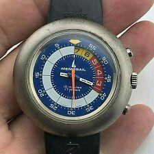 RARE MEMOSAIL Regatta Cronografo del vento manuale 42 mm Cinturino in Gomma Originale