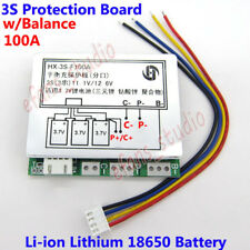 3S 11.1V 12.6V 100A w/Balance Li-ion Lithium 18650 Battery BMS Protection Board