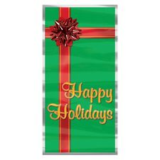 Happy Holidays Door Cover - 76 x 152 cm - Christmas Present Party Decoration