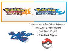 Pokemon Sun and Moon 2018 Legends Kyogre Event Pokemon