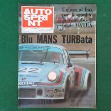 AUTO SPRINT n.25/1974 PORSCHE TURBO MARTINI RACING LE MANS Rivista/Magazine