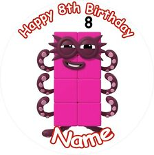 "NUMBER BLOCKS 8 ROUND 8"" BIRTHDAY ICING CAKE TOPPER"