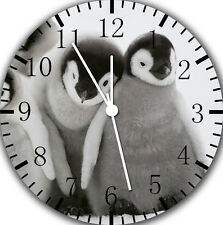 """Cute baby Penguin wall Clock 10"""" will be nice Gift and Room wall Decor E149"""