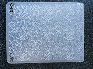 SIZZIX LARGE EMBOSSING FOLDER HOLIDAY DAMASK CHRISTMAS NEW BAUBLES HOLLY