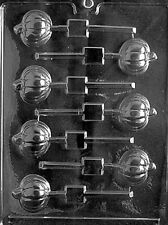 T009 Pumpkin Lolly Chocolate Candy Mold w/instructions
