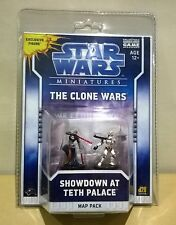 STAR WARS MINIATURES (THE CLONE WARS) SHOWDOWN AT TETH PALACE + MAP PACK
