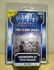 Star Wars Miniaturas (The Clone Wars) Showdown en Teth Palacio + Mapa Pack