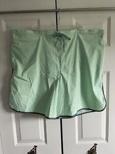George Mens Board Shorts Swim Trunks Size 3XL 48 - 50 Mint Green