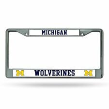 Michigan Wolverines NCAA Chrome License Plate Frame