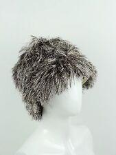 PRADA Fall 2011 Collection Silver Lurex Faux Fur Hat M/57 ~ NWT ~