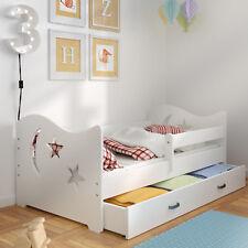 Wooden Children's Bed Frame with Slats Mattress Storage Drawer Solid Pine Wood