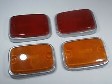 SIDE MARKER LENS / REFLECTORS SILVER BASE TRIM VW TYPE 2 BUS 1970-1979