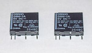 RELAY OMRON G6M-1A-DC5 SINGLE POLE SINGLE THROW 5V COIL - 2 PIECES